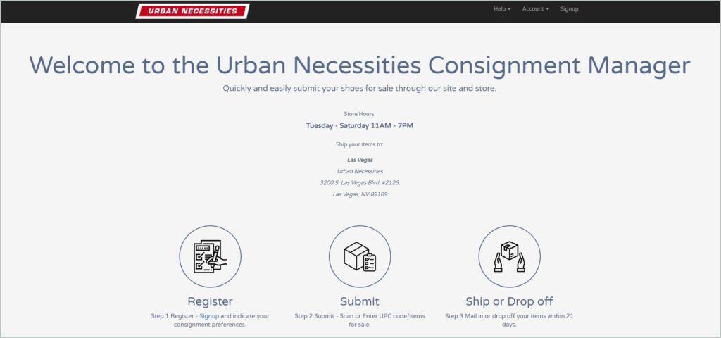screenshot of unconsignment.com website