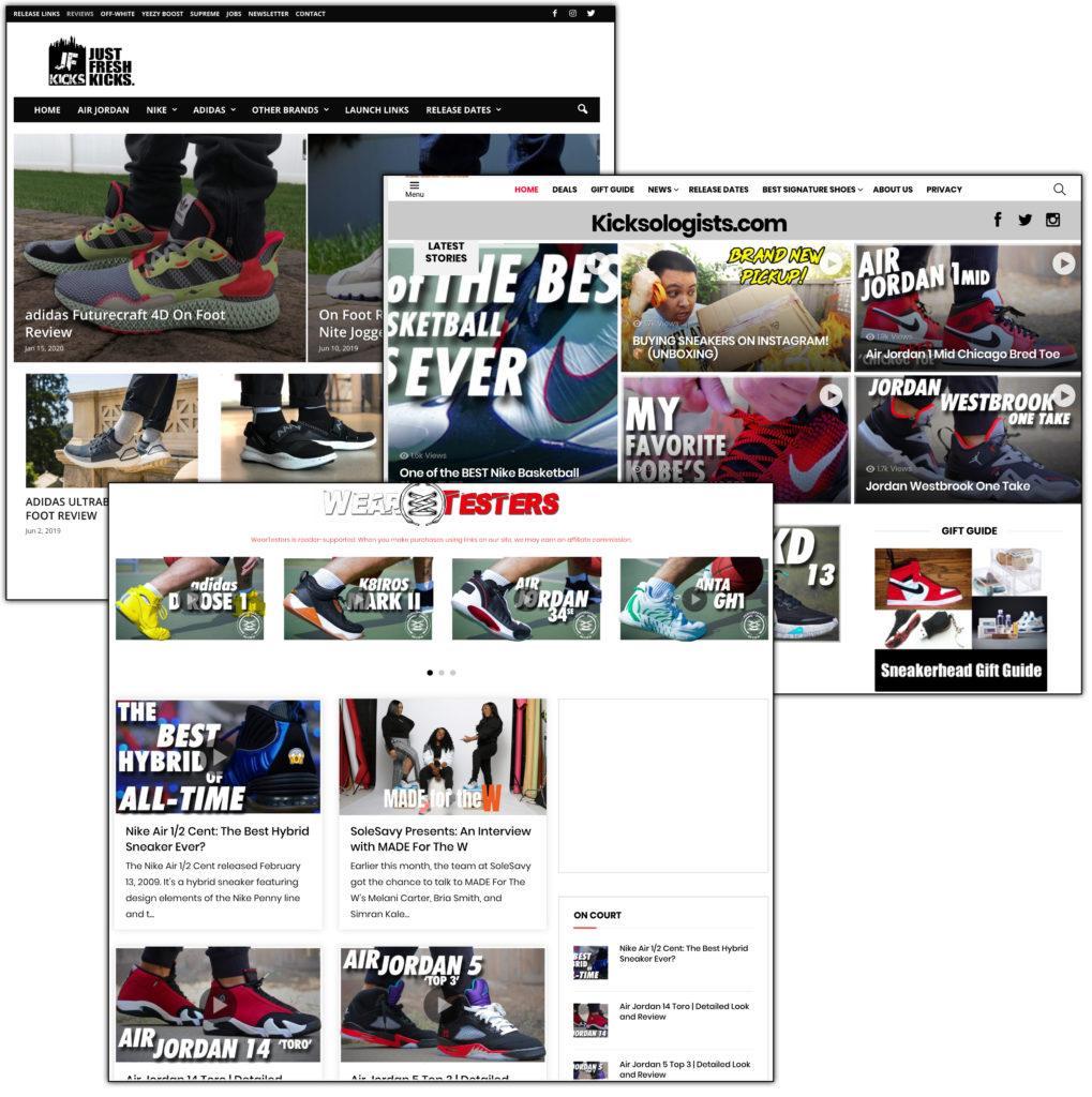 sneaker affiliate websites