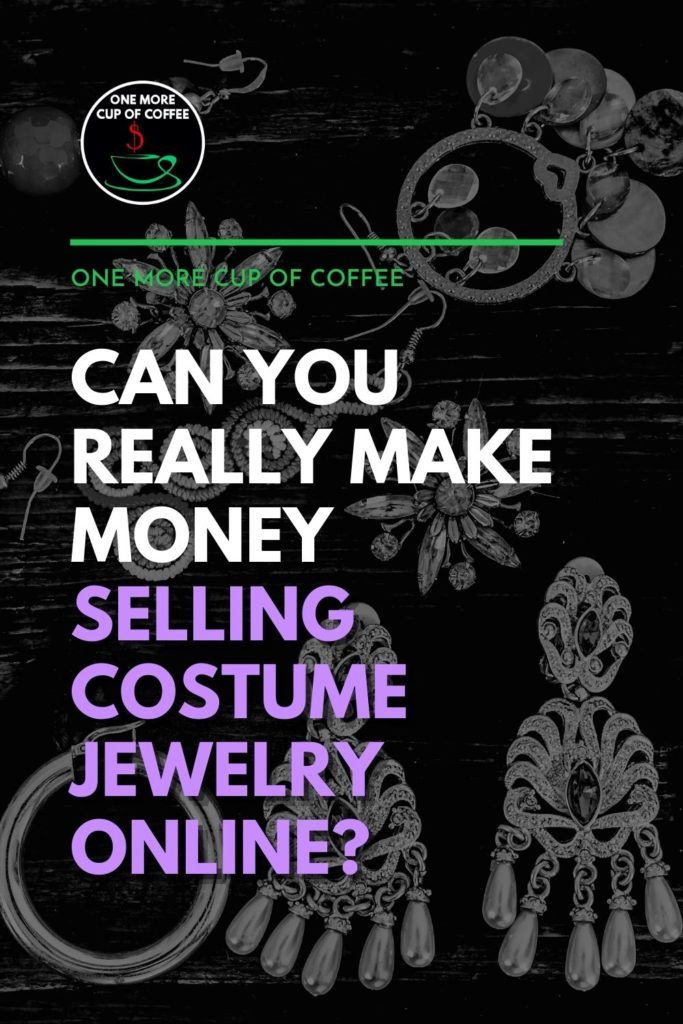 black and white image of costume jewelries with text overlay