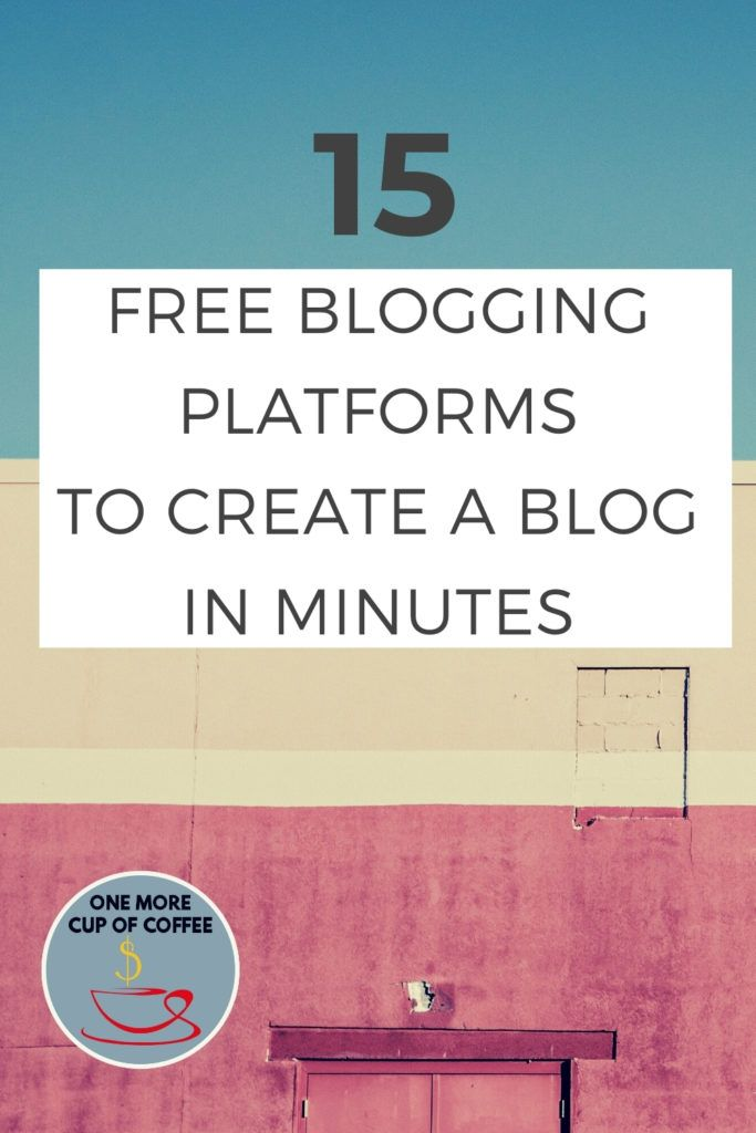 """sun bleached tri-color wall with text title """"Free Blogging Platforms"""""""