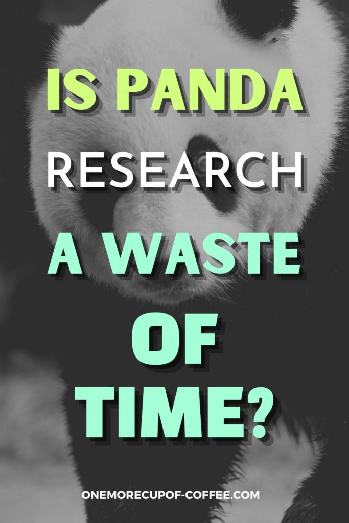 black and white image of a panda with text overlay