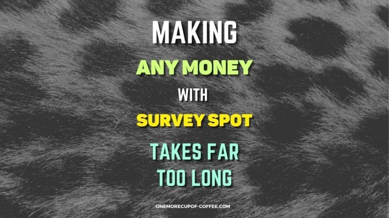Making Any Money With Survey Spot Takes Far Too Long Featured Image