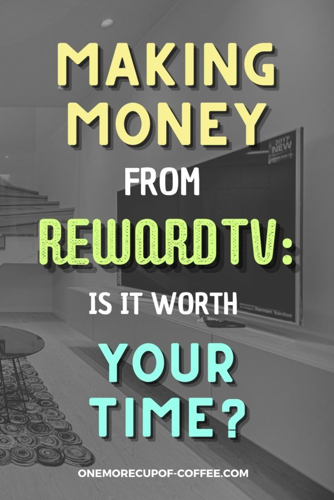 black and white image of a big flat screen tv, with text overlay Making Money From RewardTV Is It Worth Your Time?