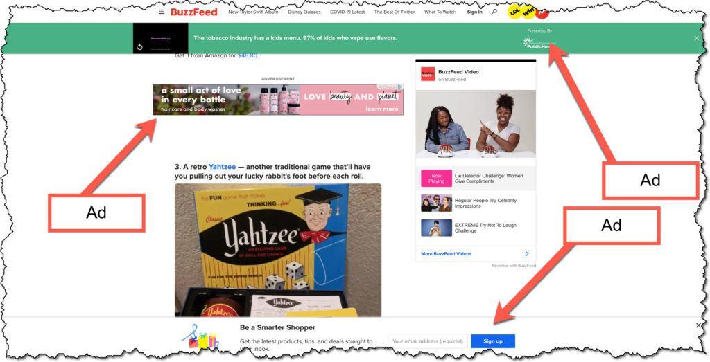 buzzfeed ads