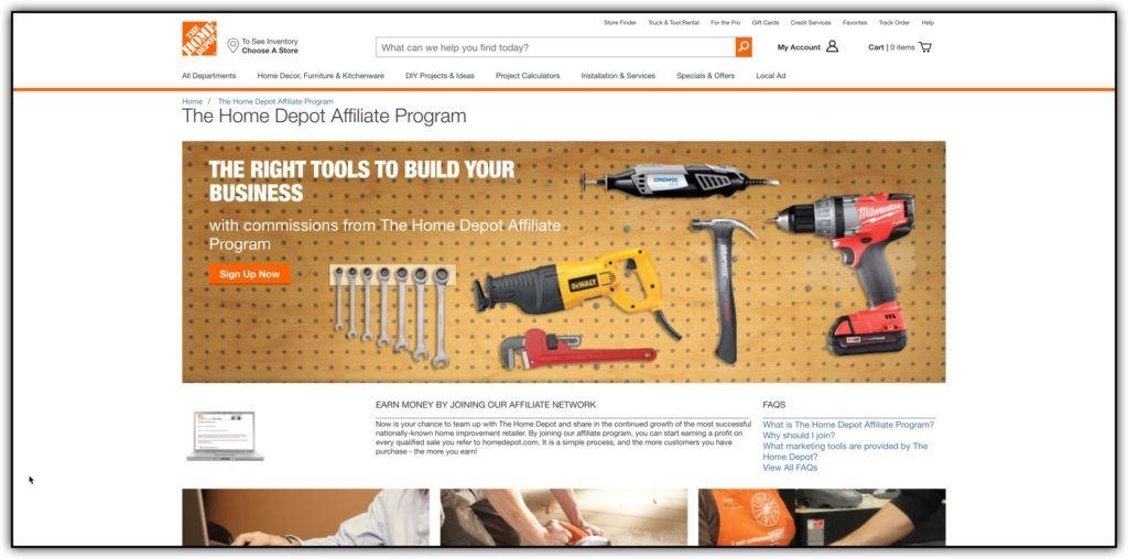 home depot affiliate program