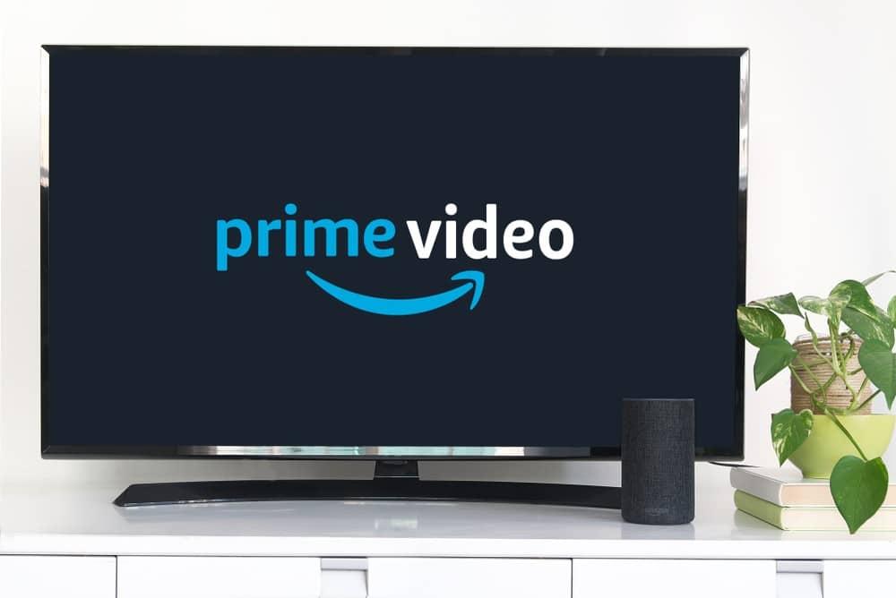 amazon prime video on smart tv with amazon alexa speaker