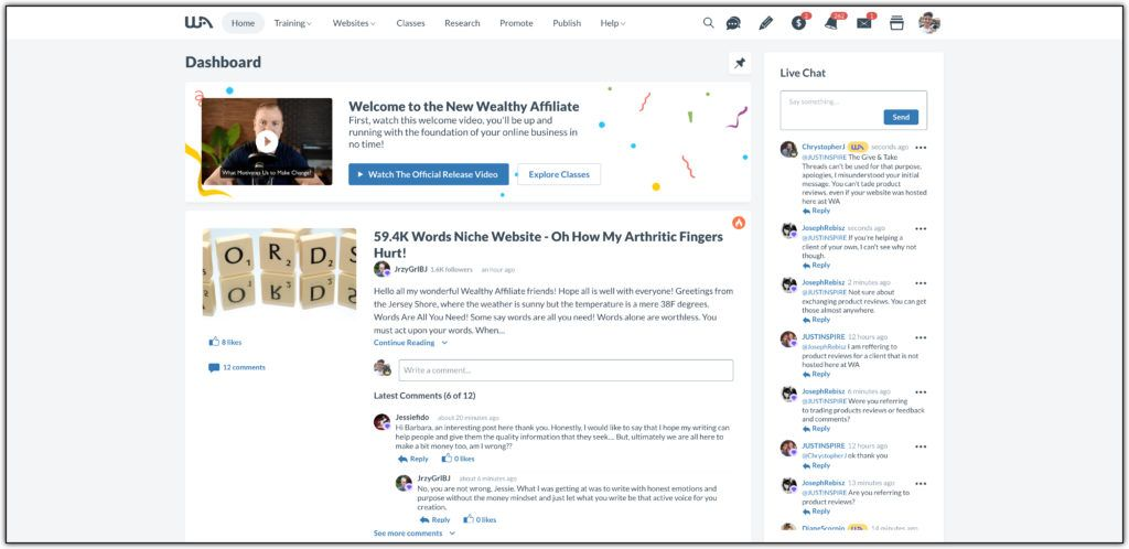 new wealthy affiliate 2021