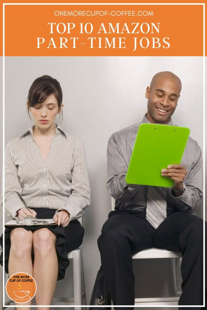 male and female applicant filling up forms, with text overlay at the top in orange banner