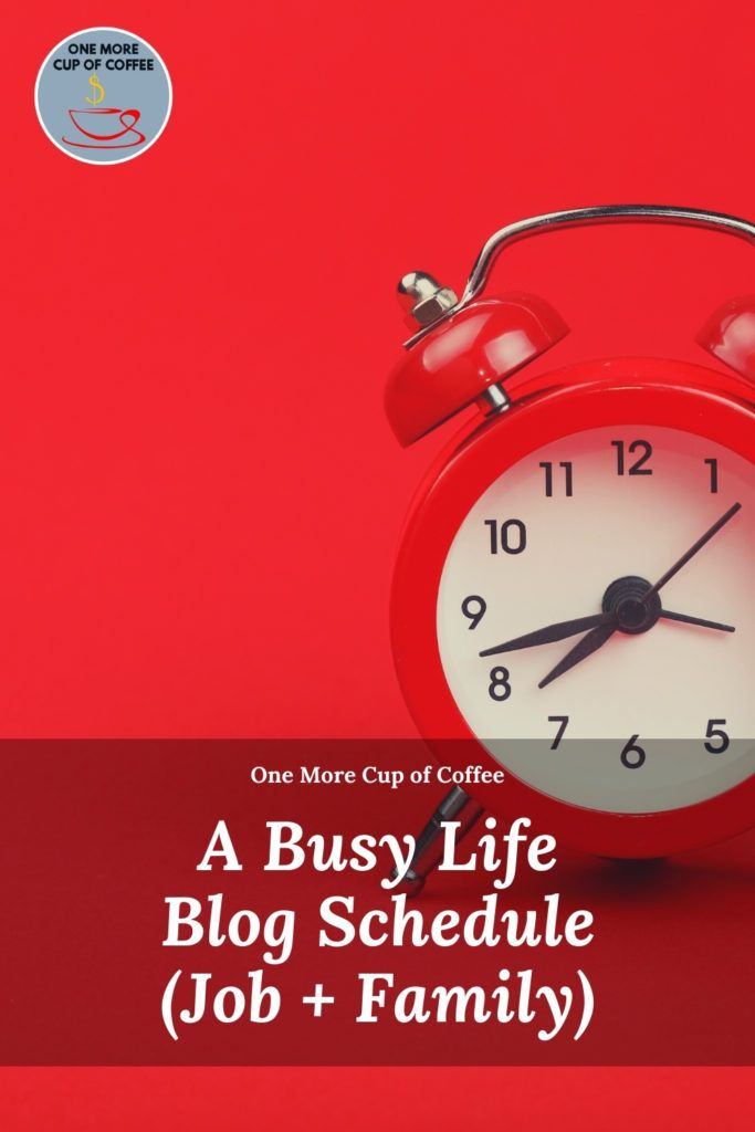 red clock to represent a busy life schedule and blogging as a side income