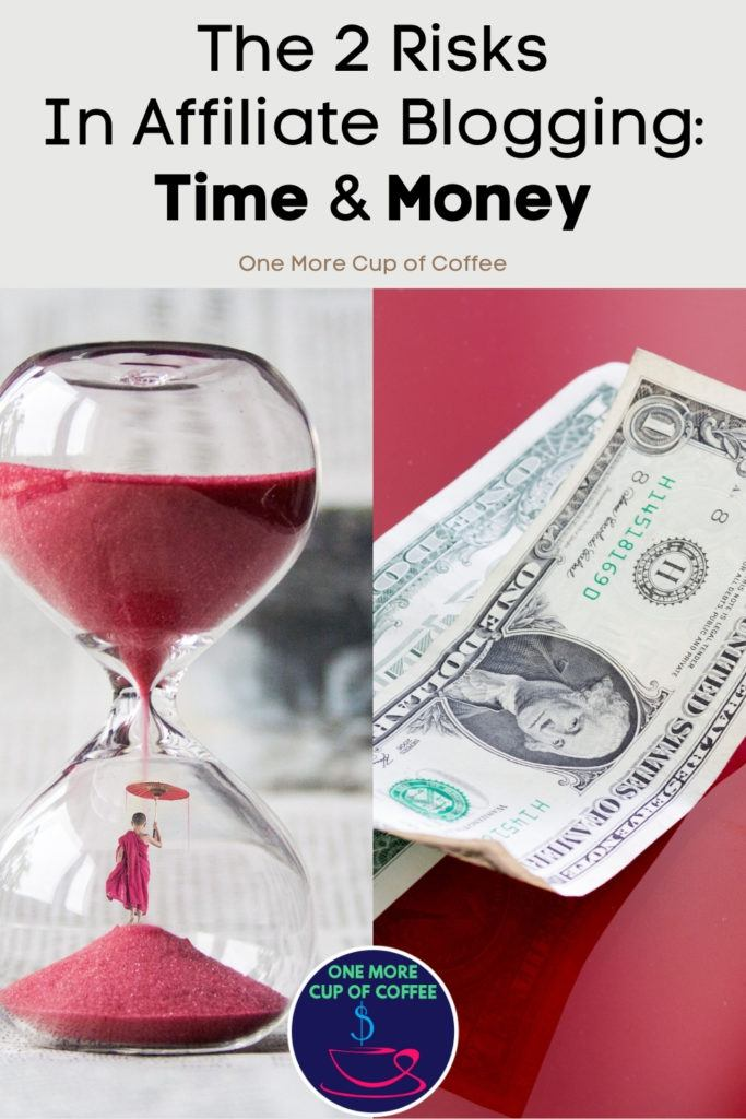 hour glass with red sand and dollars on red background. The risk of time and money