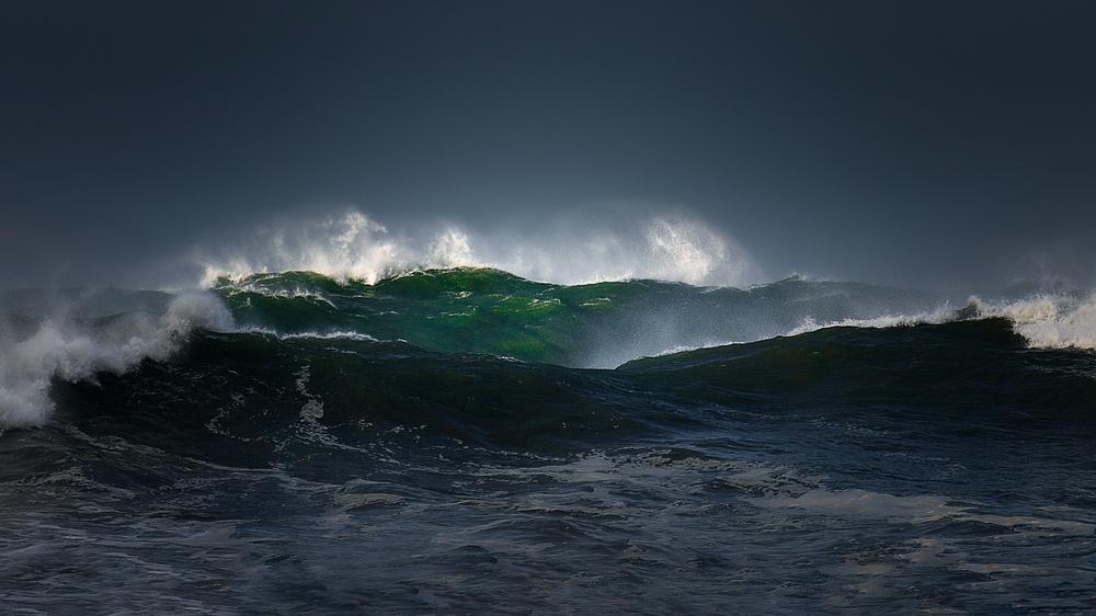 high volume of ocean water
